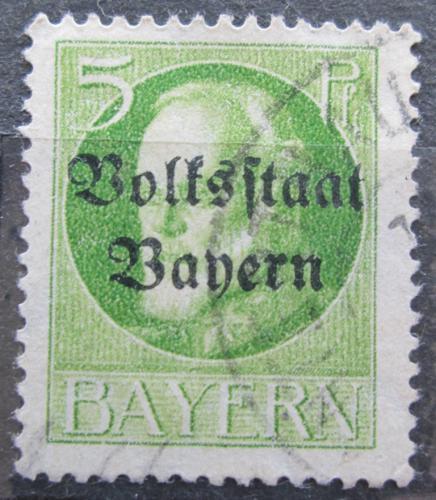 Poštovní známka Bavorsko 1919 Král Ludvík III. pøetisk Mi# 117 II A