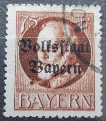 Poštovní známka Bavorsko 1919 Král Ludvík III. pøetisk Mi# 135 II A