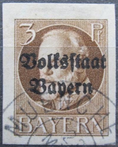 Poštovní známka Bavorsko 1920 Král Ludvík III. pøetisk Mi# 116 II B Kat 24€