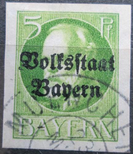 Poštovní známka Bavorsko 1920 Král Ludvík III. pøetisk Mi# 117 II B Kat 24€