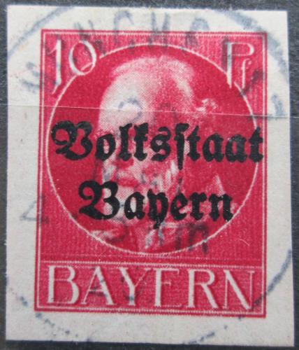 Poštovní známka Bavorsko 1920 Král Ludvík III. pøetisk Mi# 119 II B Kat 24€