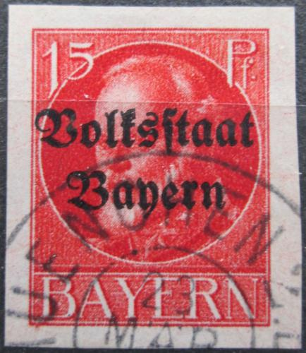 Poštovní známka Bavorsko 1920 Král Ludvík III. pøetisk Mi# 120 II B Kat 24€