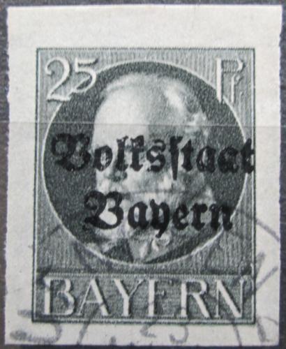 Poštovní známka Bavorsko 1920 Král Ludvík III. pøetisk Mi# 122 II B Kat 24€