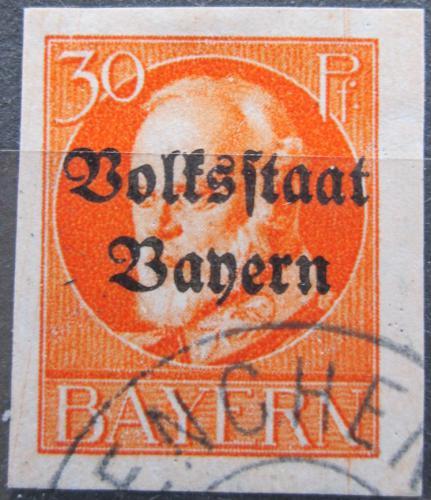 Poštovní známka Bavorsko 1920 Král Ludvík III. pøetisk Mi# 123 II B Kat 24€