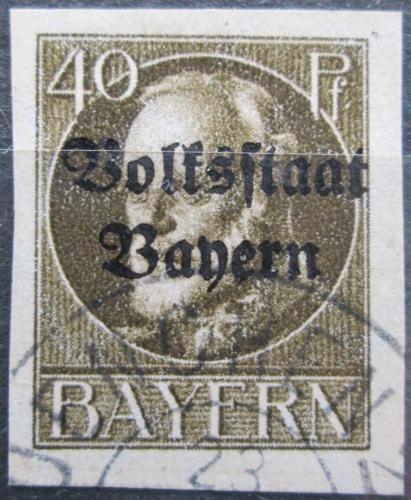 Poštovní známka Bavorsko 1920 Král Ludvík III. pøetisk Mi# 124 II B Kat 24€