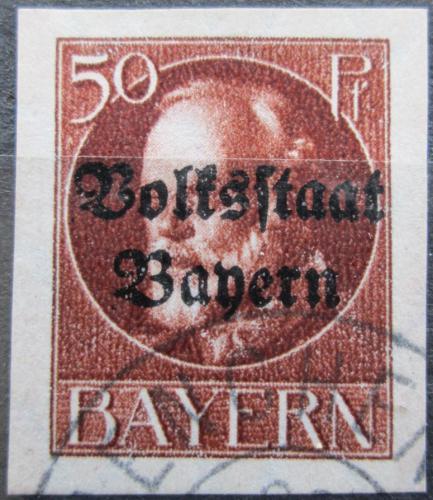 Poštovní známka Bavorsko 1920 Král Ludvík III. pøetisk Mi# 125 II B Kat 24€