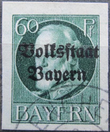 Poštovní známka Bavorsko 1920 Král Ludvík III. pøetisk Mi# 126 II B Kat 24€