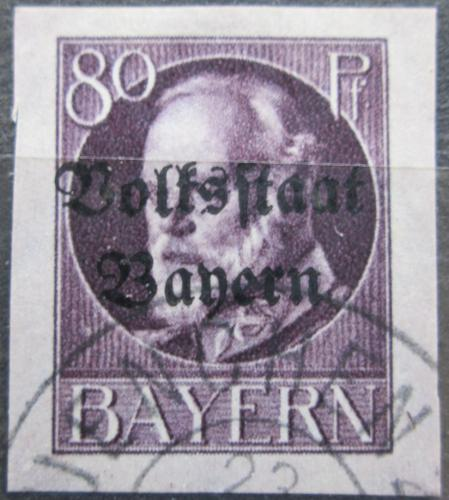 Poštovní známka Bavorsko 1920 Král Ludvík III. pøetisk Mi# 127 II B Kat 25€