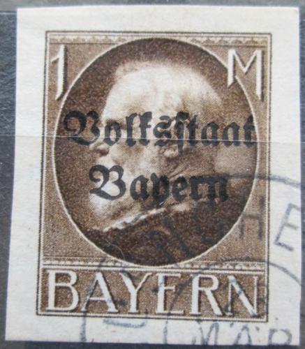 Poštovní známka Bavorsko 1920 Král Ludvík III. pøetisk Mi# 128 II B Kat 30€