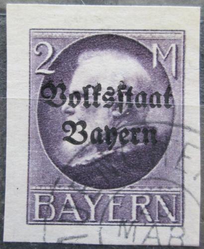 Poštovní známka Bavorsko 1920 Král Ludvík III. pøetisk Mi# 129 II B Kat 35€