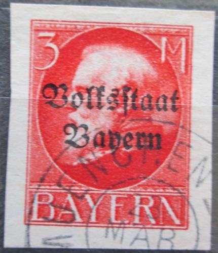 Poštovní známka Bavorsko 1920 Král Ludvík III. pøetisk Mi# 130 II B Kat 55€