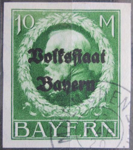 Poštovní známka Bavorsko 1920 Král Ludvík III. pøetisk Mi# 132 II B Kat 100€