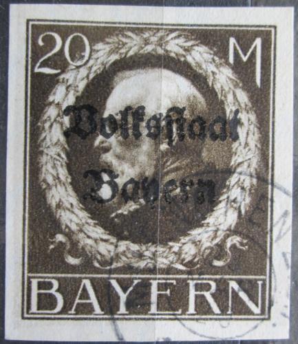 Poštovní známka Bavorsko 1920 Král Ludvík III. pøetisk Mi# 133 II B Kat 100€