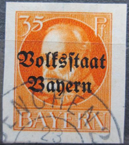 Poštovní známka Bavorsko 1920 Král Ludvík III. pøetisk Mi# 134 II B Kat 25€