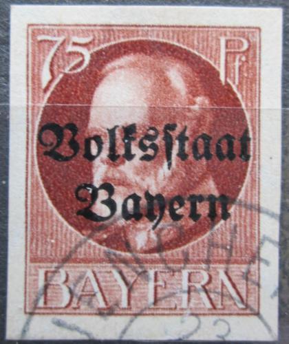 Poštovní známka Bavorsko 1920 Král Ludvík III. pøetisk Mi# 135 II B Kat 25€