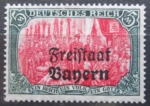 Poštovní známka Bavorsko 1919 Vilém II. Pruský pøetisk Mi# 151 B