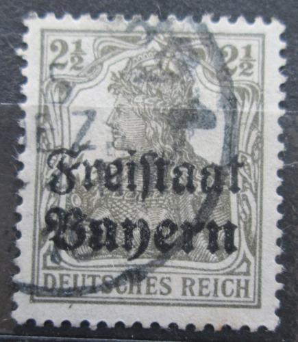 Poštovní známka Bavorsko 1919 Germania pøetisk Mi# 136 Kat 3.20€