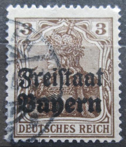 Poštovní známka Bavorsko 1919 Germania pøetisk Mi# 137 Kat 3.20€
