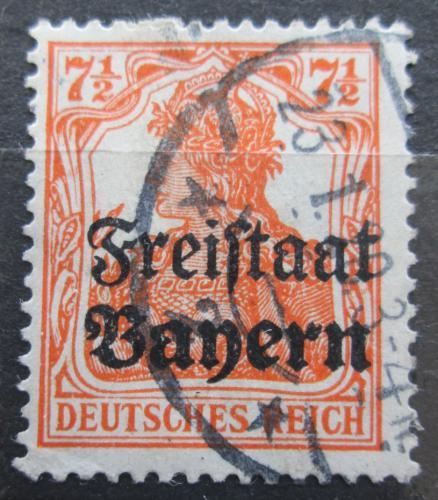 Poštovní známka Bavorsko 1919 Germania pøetisk Mi# 139 Kat 3.20€