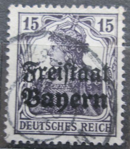 Poštovní známka Bavorsko 1919 Germania pøetisk Mi# 141 Kat 3.20€