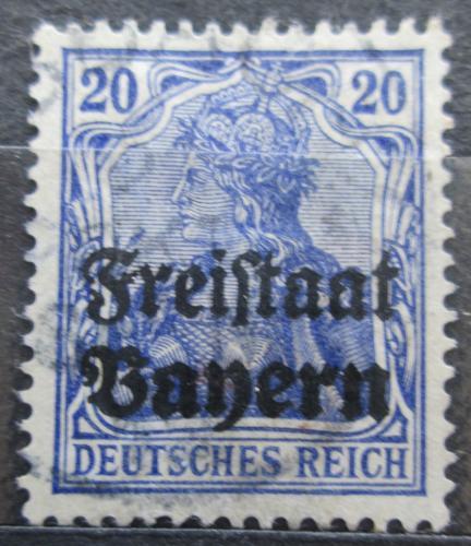 Poštovní známka Bavorsko 1919 Germania pøetisk Mi# 142 Kat 3.20€