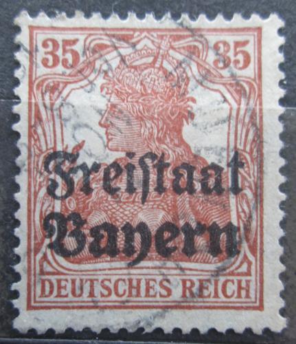 Poštovní známka Bavorsko 1919 Germania pøetisk Mi# 144 Kat 3.20€