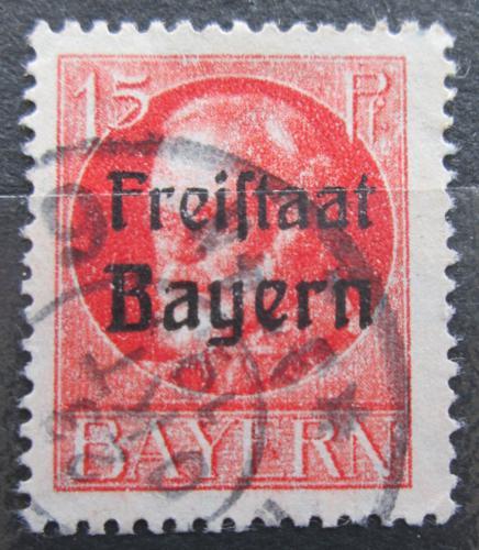 Poštovní známka Bavorsko 1919 Král Ludvík III. pøetisk Mi# 156 A Kat 3.20€