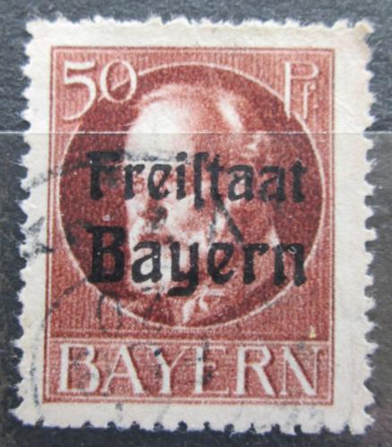 Poštovní známka Bavorsko 1919 Král Ludvík III. pøetisk Mi# 161 A Kat 3.20€