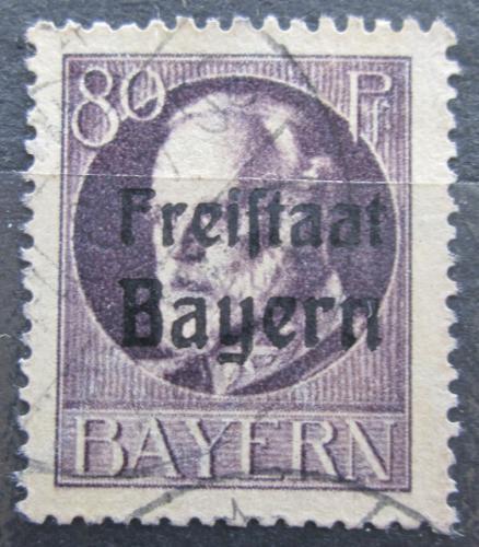 Poštovní známka Bavorsko 1919 Král Ludvík III. pøetisk Mi# 164 A Kat 4.50€