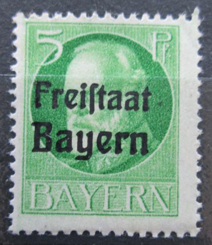 Poštovní známka Bavorsko 1919 Král Ludvík III. pøetisk Mi# 153 A