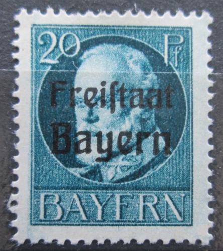 Poštovní známka Bavorsko 1919 Král Ludvík III. pøetisk Mi# 157 A