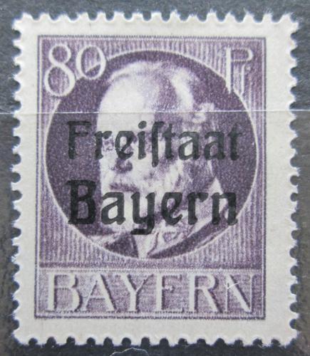 Poštovní známka Bavorsko 1919 Král Ludvík III. pøetisk Mi# 164 A