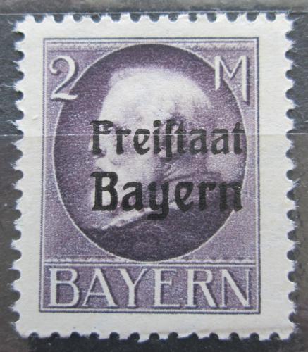 Poštovní známka Bavorsko 1919 Král Ludvík III. pøetisk Mi# 166 A