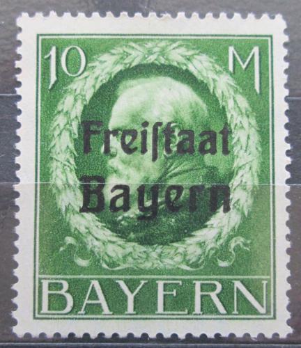 Poštovní známka Bavorsko 1919 Král Ludvík III. pøetisk Mi# 169 A