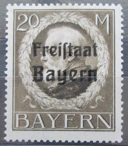 Poštovní známka Bavorsko 1919 Král Ludvík III. pøetisk Mi# 170 A