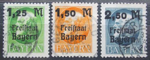 Poštovní známky Bavorsko 1919 Král Ludvík III. pøetisk Mi# 174-76 A Kat 15€