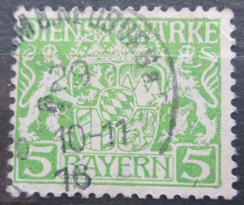 Poštovní známka Bavorsko 1916 Státní znak, úøední Mi# 17