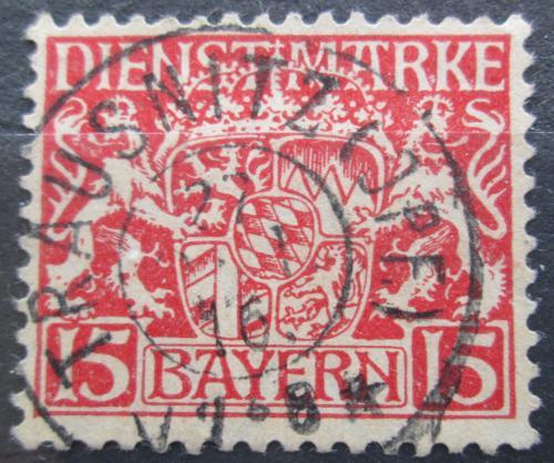 Poštovní známka Bavorsko 1916 Státní znak, úøední Mi# 19