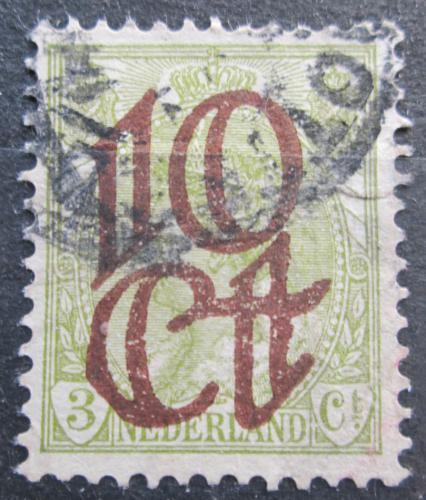 Poštovní známka Nizozemí 1923 Královna Wilhelmina pøetisk Mi# 118