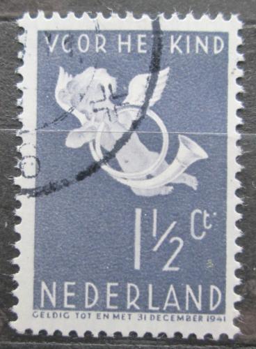 Poštovní známka Nizozemí 1936 Andìl s poštovní trubkou Mi# 297