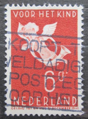 Poštovní známka Nizozemí 1936 Andìl s poštovní trubkou Mi# 299