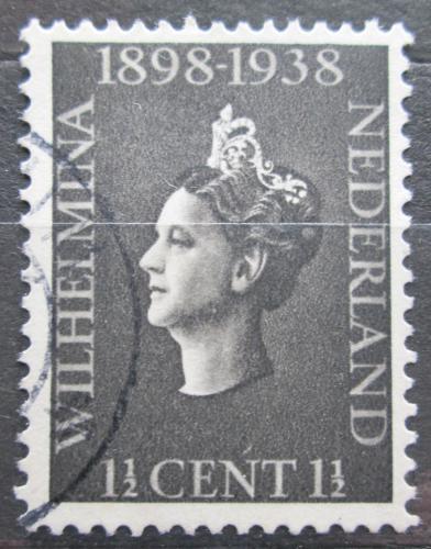 Poštovní známka Nizozemí 1938 Královna Wilhelmina Mi# 318