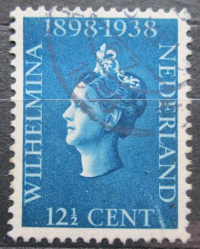 Poštovní známka Nizozemí 1938 Královna Wilhelmina Mi# 320