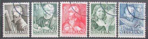Poštovní známky Nizozemí 1940 Osobnosti Mi# 351-55