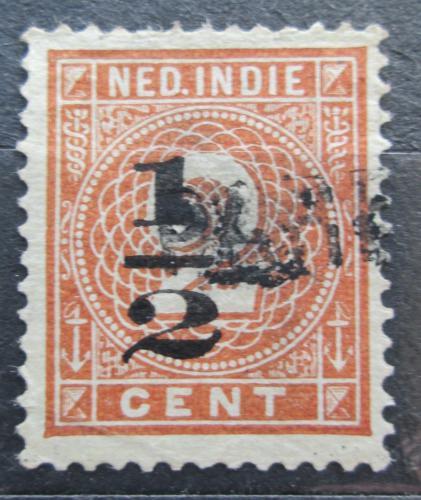 Poštovní známka Nizozemská Indie 1902 Nominální hodnota pøetisk Mi# 38