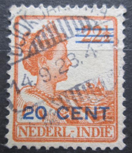 Poštovní známka Nizozemská Indie 1921 Královna Wilhelmina pøetisk Mi# 134