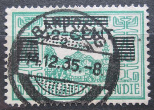 Poštovní známka Nizozemská Indie 1934 Letadlo nad chrámem pøetisk Mi# 203