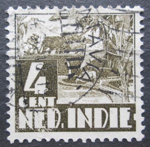 Poštovní známka Nizozemská Indie 1934 Farmáø na rýžovém poli Mi# 209