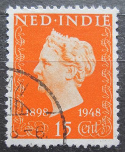 Poštovní známka Nizozemská Indie 1948 Královna Wilhelmina Mi# 350