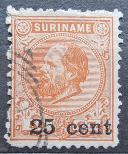 Poštovní známka Surinam 1900 Král Vilém III. pøetisk Mi# 44